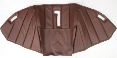 Engine cover upholstery - brown, with pocket